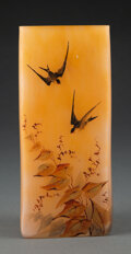 Glass, Schneider Special Release Enameled Glass Vase, circa 1920. Marks: (candy cane). 6-3/4 inches (17.1 cm). ...