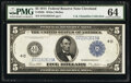 Fr. 859c $5 1914 Federal Reserve Note PMG Choice Uncirculated 64