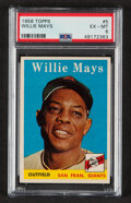 Baseball Cards:Singles (1950-1959), 1958 Topps Willie Mays #5 PSA EX-MT 6....