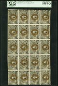 Fr. 1233 5¢ Second Issue Uncut Sheet of 20 PCGS Choice About New 55PPQ