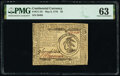 Colonial Notes:Continental Congress Issues, Continental Currency May 9, 1776 $3 PMG Choice Uncirculated 63.. ...