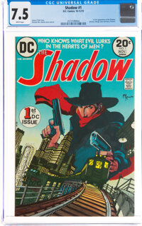The Shadow #1 (DC, 1973) CGC VF- 7.5 White pages