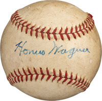 Circa 1940 Honus Wagner Single Signed Baseball