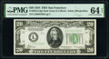 Fr. 2054-L $20 1934 Dark Green Seal Federal Reserve Note. PMG Choice Uncirculated 64 EPQ