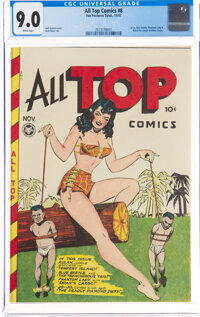 All Top Comics #8 (Fox Features Syndicate, 1947) CGC VF/NM 9.0 White pages