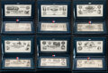 Miscellaneous:Other, Historic American Currency Sterling Silver Banknote Series ABNCo-International Silver Company Joint Issue Complete Set of Six ... (Total: 6 items)