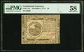 Colonial Notes:Continental Congress Issues, Continental Currency November 2, 1776 $6 PMG Choice About Unc 58.. ...