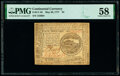 Colonial Notes:Continental Congress Issues, Continental Currency May 20, 1777 $4 PMG Choice About Unc 58.. ...