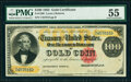 Large Size:Gold Certificates, Fr. 1206 $100 1882 Gold Certificate PMG About Uncirculated 55.. ...