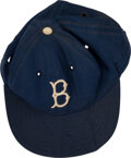 Baseball Collectibles:Hats, 1956-57 Don Drysdale Rookie-Era Game Worn Brooklyn Dodgers Cap, MEARS Authentic....