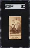 Baseball Cards:Singles (Pre-1930), 1887-90 N172 Old Judge Buck Ewing with Mascot #149 SGC NM-MT 8--None Superior!...