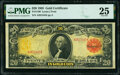Large Size:Gold Certificates, Fr. 1180 $20 1905 Gold Certificate PMG Very Fine 25.. ...