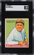 Baseball Cards:Singles (1930-1939), 1933 Goudey Babe Ruth #181 SGC NM-MT 8--Only One Superior!...