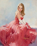 Pin-Up and Glamour Art, Gil Elvgren (American, 1914-1980). It Will Take More than One Evening Out..., 1969. ...