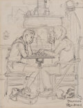 Works on Paper, Norman Rockwell (American, 1894-1978). A Good Turn, Boy Scouts study. Pencil on paper. 7-3/8 x 5-5/8 inches (18.7 x 14.3...