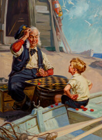 Hy (John Henry) Hintermeister (American, 1870-1945) Stumped, by Gum Oil on canvas 30 x 22 inches (76.2 x 55.9 cm) Si
