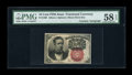 Fractional Currency:Fifth Issue, Fr. 1266 10c Fifth Issue Courtesy Autograph PMG Choice About Unc 58EPQ....