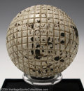 Golf Collectibles:Balls/Tees - Miscellaneous, Mesh pattern Silvertown gutty ball. With 90% of its ...