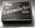 """Golf Collectibles:Balls/Tees - Miscellaneous, Black """"The Silvertown Golf Ball"""" box. Designed to hold 12 ..."""