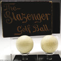 "Golf Collectibles:Balls/Tees - Miscellaneous, Three good golf collectibles. Included are ""The Slazenger ... (3items)"