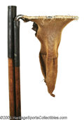 Golf Collectibles:Balls/Tees - Miscellaneous, Unusual antique two-piece ball retriever. Hickory shaft, ...