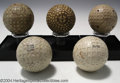 Golf Collectibles:Balls/Tees - Miscellaneous, Five balls with square dimples. Included is a Wilpro by ... (5items)