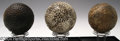 Golf Collectibles:Balls/Tees - Miscellaneous, Three balls. Included is a Zodiac with raised circles ... (3 items)