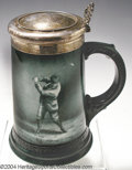 Golf Collectibles:Ceramics/Glass, Uncommon Lenox porcelain stein with original sterling lid ...