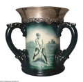 Golf Collectibles:Ceramics/Glass, Lenox trophy with three handles and original fancy sterling ...