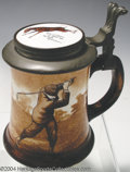 Golf Collectibles:Ceramics/Glass, O'Hara Dial stein with pewter lid, thumb rest and porcelain ...