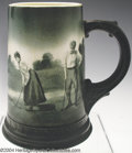 Golf Collectibles:Ceramics/Glass, Lenox mug with original hand painted scene. Scene depicts ...