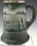 Golf Collectibles:Ceramics/Glass, Lenox mug with original sterling rim. Hand painted in the ...