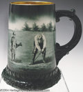 Golf Collectibles:Ceramics/Glass, Lenox mug with original hand painted scene in the well-known ...