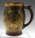 Golf Collectibles:Ceramics/Glass, Royal Doulton Kingsware mug in brown, green, gold and blue ...