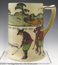 Golf Collectibles:Ceramics/Glass, Royal Doulton Series Ware pitcher with well-known Crombie ...