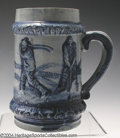 Golf Collectibles:Ceramics/Glass, Stoneware mug in cobalt blue attributed to Robinson Clay ...