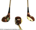 Golf Collectibles:Clubs - Steel Shaft, Set of three professionally refinished MacGregor Chieftain ... (3items)