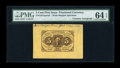 Fractional Currency:First Issue, Fr. 1231SP 5c First Issue Wide Margin Face Courtesy Autograph PMGChoice Uncirculated 64 EPQ....