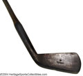 Golf Collectibles:Clubs - Wood Shaft, Foreign, Hand forged, smooth face cleek manufactured by Carrick in ...