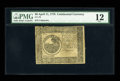 Colonial Notes:Continental Congress Issues, Continental Currency April 11, 1778 $6 PMG Fine 12....