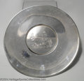 Golf Collectibles:Sterling/Silver Plate/Metals, Sterling trophy in the form of a hanging plate with engraved ...