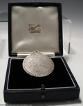 Golf Collectibles:Medals/Jewelry, Rare, early 19th-century silver golfing medal with sunray ... (2items)