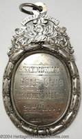 "Golf Collectibles:Medals/Jewelry, The ""Alexander Medal."" A large, imposing, oval, silver ..."