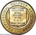 Golf Collectibles:Medals/Jewelry, Rare Challenge medal. In 15K gold, won by Jock Hutchison ...
