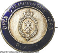 Golf Collectibles:Medals/Jewelry, Contestant's badge from the 1963 Open Championship. The ...