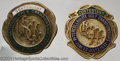 Golf Collectibles:Medals/Jewelry, Two contestant badges. Included is a green and white ... (2 items)