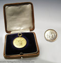 Golf Collectibles:Medals/Jewelry, Two interesting medals. Included is a small round 9K gold ... (3items)