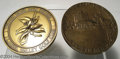 """Golf Collectibles:Medals/Jewelry, Two oversized round medals. Included is a 3"""" bronze medal ... (2items)"""