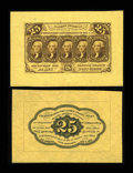 Fractional Currency:First Issue, Fr. 1282sp 25c First Issue Wide Margin Pair Choice New....