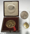 Golf Collectibles:Medals/Jewelry, Three interesting medals. Included is a boxed bronze medal ... (4items)
